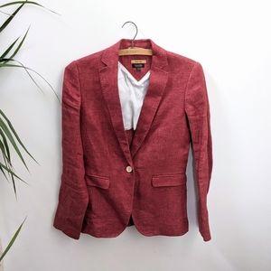 Massimo Dutti Coral Red Blazer